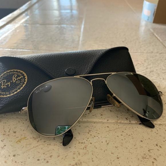 Ray-Ban Aviator Sunglasses- Mirror Silver